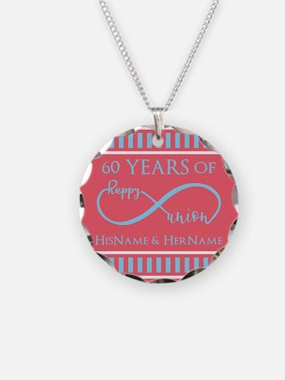 Personalized 60th Anniversar Necklace