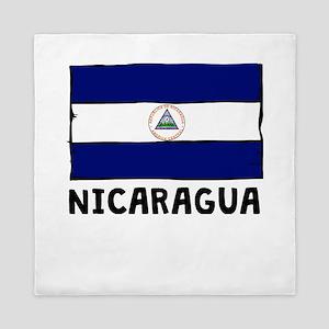 Nicaragua Flag Queen Duvet