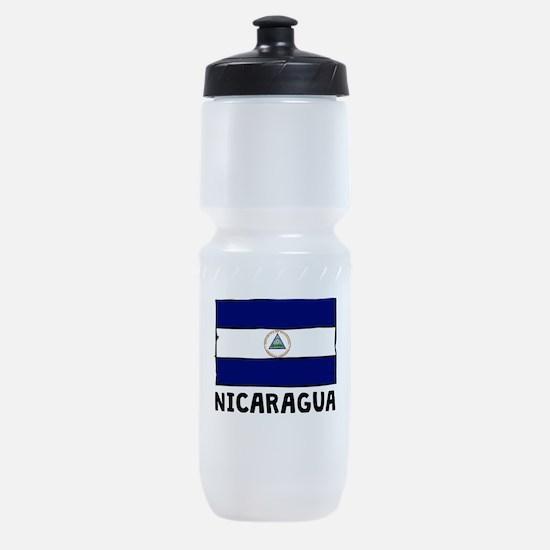 Nicaragua Flag Sports Bottle