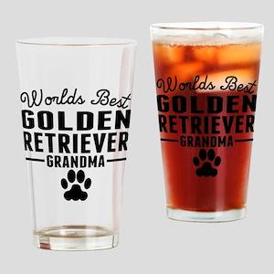 Worlds Best Golden Retriever Grandma Drinking Glas