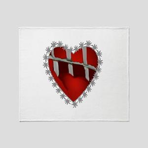 slammed heart111 Throw Blanket