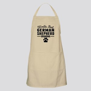 Worlds Best German Shepherd Grandma Apron