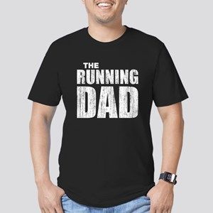 The running dad Men's Fitted T-Shirt (dark)