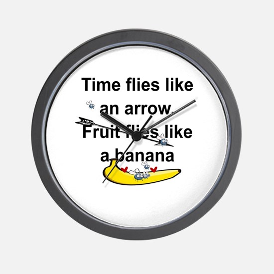 Cute Time flies Wall Clock