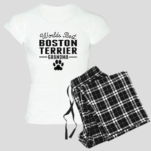 Worlds Best Boston Terrier Grandma Pajamas