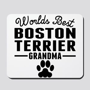 Worlds Best Boston Terrier Grandma Mousepad