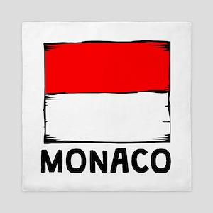 Monaco Flag Queen Duvet
