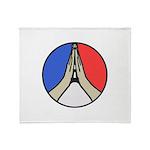 Pray for Peace Throw Blanket