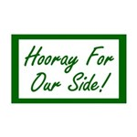 Hooray For Our Side 35x21 Wall Decal