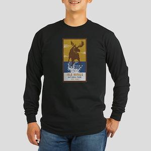Isle Royale Moose National Par Long Sleeve T-Shirt