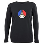 Pray for Peace Plus Size Long Sleeve Tee