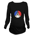Pray for Peace Long Sleeve Maternity T-Shirt
