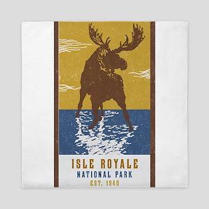 Isle Royale Moose National Park Queen Duvet