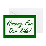 Hooray For Our Side Greeting Cards (Pk of 20)