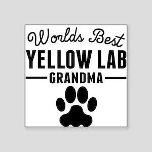 Worlds Best Yellow Lab Grandma Sticker