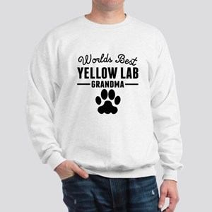 Worlds Best Yellow Lab Grandma Sweatshirt