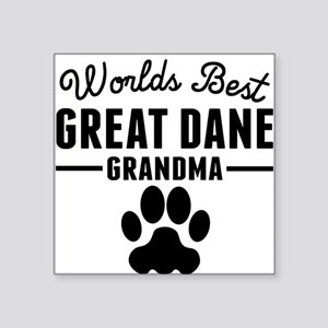 Worlds Best Great Dane Grandma Sticker