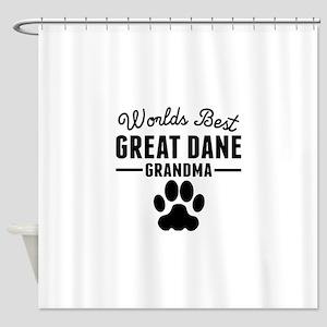 Worlds Best Great Dane Grandma Shower Curtain