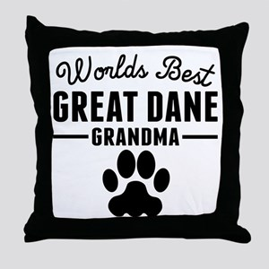 Worlds Best Great Dane Grandma Throw Pillow