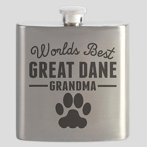 Worlds Best Great Dane Grandma Flask