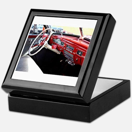 Classic car dashboard Keepsake Box