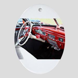 Classic car dashboard Oval Ornament