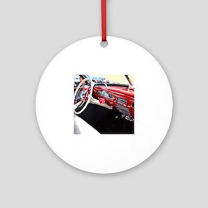 Classic car dashboard Round Ornament