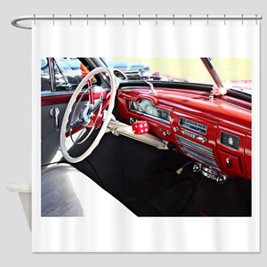 Classic car dashboard Shower Curtain