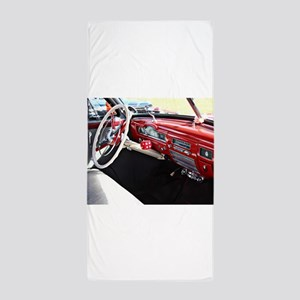 Classic car dashboard Beach Towel