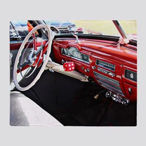 Classic car dashboard Throw Blanket