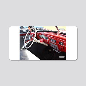Classic car dashboard Aluminum License Plate