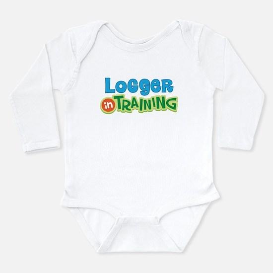 Cute Logging Long Sleeve Infant Bodysuit
