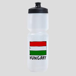 Hungary Flag Sports Bottle