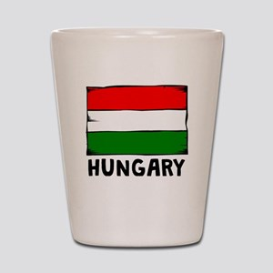 Hungary Flag Shot Glass