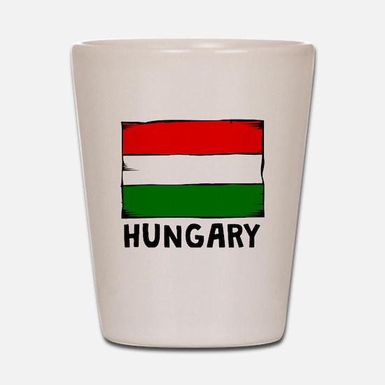 Hungary Flag Shot Glass