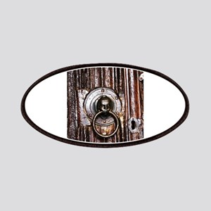 Old door knocker and keyhole Patch