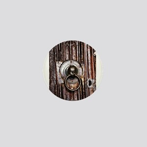 Old door knocker and keyhole Mini Button
