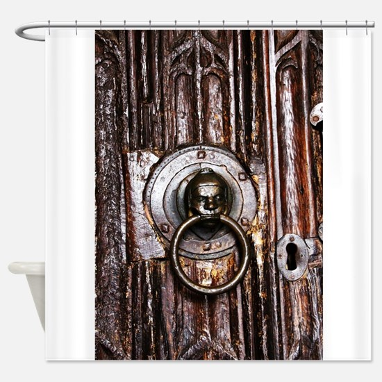 Old door knocker and keyhole Shower Curtain