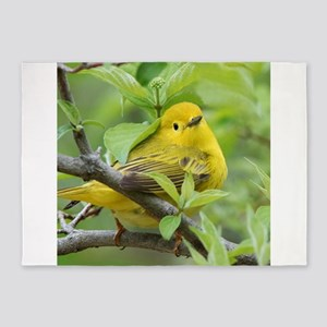 Yellow Warbler 5'x7'Area Rug