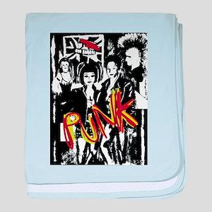Punk Rock music fashion art and desig baby blanket