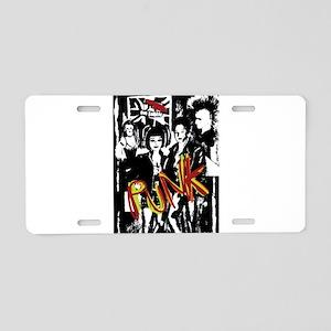 Punk Rock music fashion art Aluminum License Plate