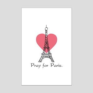 Pray For Paris Mini Poster Print