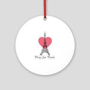 Pray For Paris Ornament (Round)