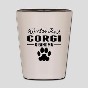 Worlds Best Corgi Grandma Shot Glass
