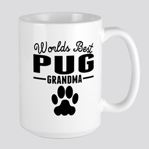 Worlds Best Pug Grandma Mugs