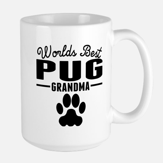 Worlds Best Pug Grandma Mugs