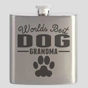 Worlds Best Dog Grandma Flask