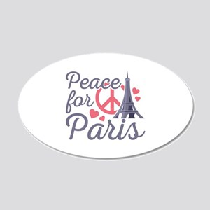Peace For Paris 22x14 Oval Wall Peel