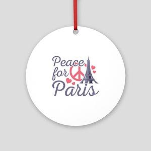 Peace For Paris Ornament (Round)