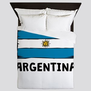 Argentina Flag Queen Duvet